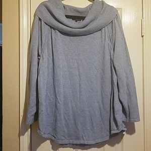 Jeanne Pierre 3x Blue Cowl Neck Sweater